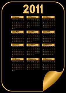Free Black Calendar. Royalty Free Stock Photos - 18322258