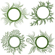 Free Vector Set Of Leafs Frames Stock Images - 18322774