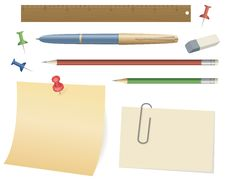 Free Office Objects Set Vector Royalty Free Stock Photo - 18323255