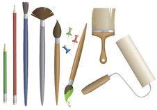 Artist Equipment Set Vector Royalty Free Stock Photography