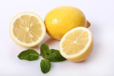 Free Lemon With Mint Stock Images - 18323854