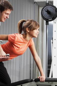 Free Exercise In Health Club Royalty Free Stock Photo - 18323935