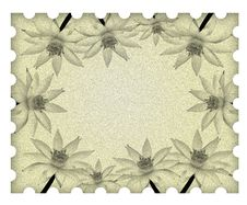 Free Image Lotus Flower Frame On Old Paper Royalty Free Stock Photo - 18324515