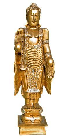 Golden Buddha Isolated Stock Image