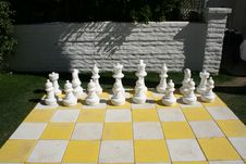 Free White Chess Pieces Royalty Free Stock Photography - 18324657