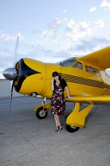 Aircraft And Model Royalty Free Stock Images