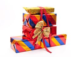 Free Stack Of Gift Boxes Stock Photography - 18324862