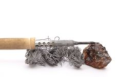 Set Of The Soldering Tools Stock Photo