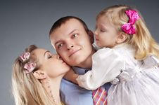 Free Portrait Of A Happy Family Standing Together Royalty Free Stock Image - 18324916