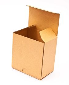 Empty Open Cardboard Box Stock Image