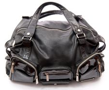 Free Black Leather Road Bag Stock Photos - 18325393