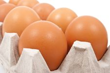 Free Brown Eggs In Box Royalty Free Stock Image - 18325416