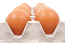 Free Brown Eggs In Box Stock Photo - 18325420