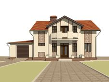Free 3D Sketch Of The House Royalty Free Stock Images - 18325779