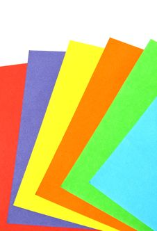 Free Colorful Paper Set Isolated Stock Photography - 18325792