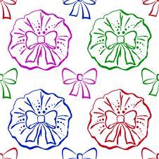 Free Bows, Seamless Pattern Royalty Free Stock Photos - 18325978