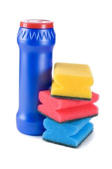 Free Plastic Bottle With Detergent Royalty Free Stock Photos - 18325998