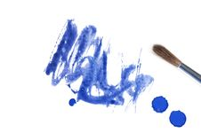 Free Blue Abstract Watercolor Brush Splash Royalty Free Stock Photography - 18326037