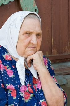Free Portrait Of The Old Woman Stock Image - 18326041
