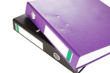 Office Folders Isolated On The White Royalty Free Stock Photo