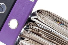 Office Folders Isolated On The White Royalty Free Stock Image