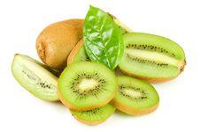 Free Fresh Kiwi Isolated On White Royalty Free Stock Photos - 18326128