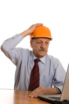Free Engineer At The Computer Stock Image - 18326131