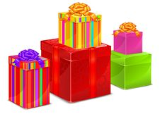 Free Set Of Color Boxes Royalty Free Stock Image - 18327046