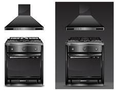 Free Black Gas Cooker Over Stock Photos - 18327053