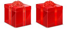 Free Red Box With Bow Royalty Free Stock Photos - 18327058