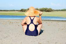 Free Woman In Dark Blue Bikini Stock Photo - 18327200