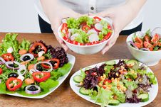 Free Fresh Salad Royalty Free Stock Images - 18327839