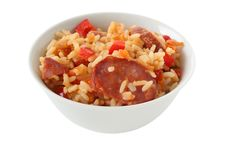 Rice With Sausages Stock Photography