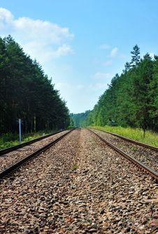 Free Railroad Tracks Stock Image - 18328021