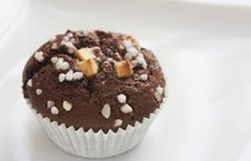 Chocolate Muffin With Decoration Royalty Free Stock Photos