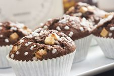 Chocolate Muffin With Decoration Stock Images
