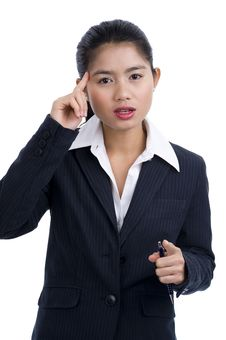 Business Woman Found A Solution Royalty Free Stock Photos