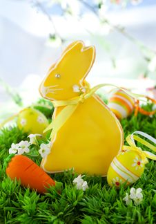 Easter Bunny Cookie Stock Images