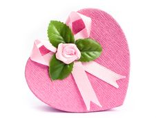 Free Isolated Heart Shaped Gift Box Stock Photo - 18328640