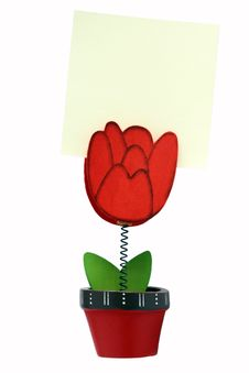 Free Flower Shape Message Holder Royalty Free Stock Photography - 18328757