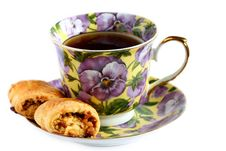 Free Cup Of Tea With Cookie On Saucer Royalty Free Stock Images - 18328799