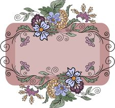 Horizontal Floral Frame Royalty Free Stock Photography