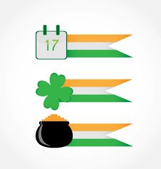 Free St. Patrick S Day, Set Of Banners. Royalty Free Stock Images - 18329349