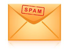 Free Envelope Icon Inscription Spam. Royalty Free Stock Image - 18329376