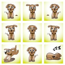 Free Frames With Cute Puppy Stock Photography - 18329772