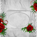 Free Vintage Card For The Holiday With Red Rose Stock Images - 18332264