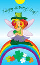 Free Elf Girl And The Rainbow Royalty Free Stock Photos - 18334868
