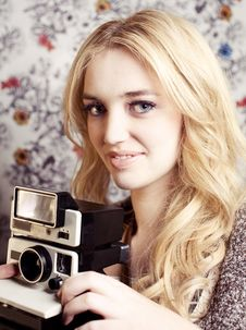 Free Goldie With Camera Stock Photography - 18330432