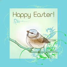 Free Happy Easter Bird Stock Images - 18330474