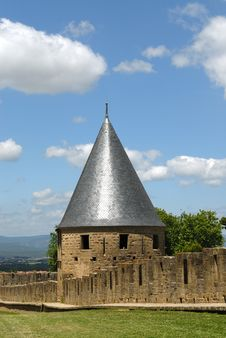 Free Carcassonne Castle Towers Stock Photo - 18330610